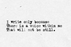 """a voice within me ...""  -Sylvia Plath"