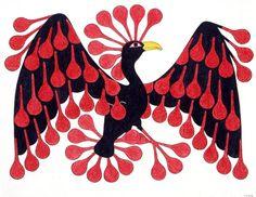 Displaying Feathers, by Kenojuak Ashevak (Inuit artist)