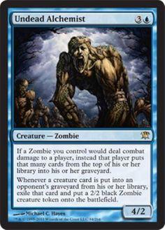 mtg Magic the Gathering Blue Zombies Deck precon