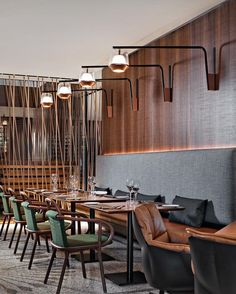 Restaurant Design Inspirations // Luxury and Glamorous Furniture Restaurant Furniture, Restaurant Interior Design, Luxury Interior Design, Restaurant Ideas, Mid Century Interior Design, Design Commercial, Commercial Lighting, Century Hotel, Hotel Room Design