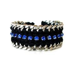 .chunky rhinestone bracelet