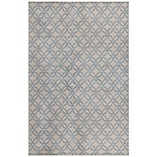 image of Radiance Circle Fret 6-Foot 6-Inch x 9-Foot 10-Inch Area Rug in Ivory/Blue