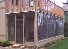 clear vinyl plastic enclosures installation diy pinterest