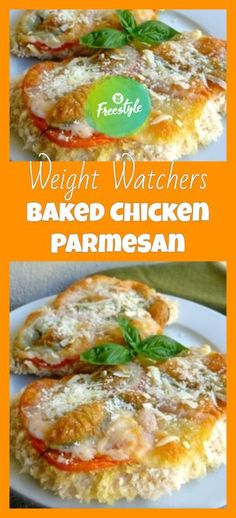 weight watchers chicken parmesan - a Weight Watchers Snacks, Weight Watcher Dinners, Weight Watchers Free, Weight Watchers Chicken, Ww Recipes, Light Recipes, Chicken Recipes, Cooking Recipes, Healthy Recipes