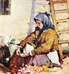 Luchian, Stefan - The Florist (Romanian National Art Gallery, Bucharest) William Adolphe Bouguereau, National Art, Post Impressionism, Art Database, Old Art, Vintage Wall Art, French Artists, Medium Art, Oeuvre D'art