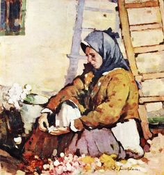 Luchian, Stefan - The Florist (Romanian National Art Gallery, Bucharest) William Adolphe Bouguereau, National Art, Post Impressionism, Art Database, Bucharest, Old Art, Vintage Wall Art, French Artists, Oeuvre D'art