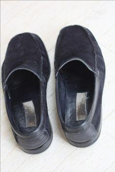 Ermenegildo Zegna nubuk zamsz loafers przed i po renowacji SkinMyWay