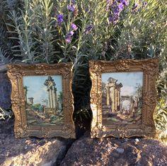 Vintage Burwood Gold Ornate Framed Art, Italian Style Art,  Hollywood Regency, Shabby Chic, Victorian Style, Glam by YellowHouseDecor on Etsy https://www.etsy.com/listing/252789293/vintage-burwood-gold-ornate-framed-art