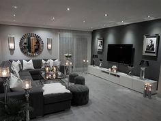 small living room designs are offered on our site. Have a look and you wont be sorry you did. Living Room Ideas Light Grey Sofa, Living Room Decor Cozy, Living Room Grey, Interior Design Living Room, Home And Living, Small Living, Living Room Goals, Grey Loving Room Ideas, Lights For Living Room