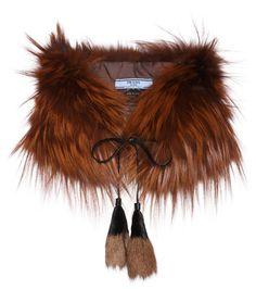 Brown fur stole