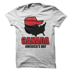 Canada Americans Hat T-Shirt - #womens tee #trendy tee. GET YOURS => https://www.sunfrog.com/Funny/Canada-Americans-Hat-T-Shirt.html?68278