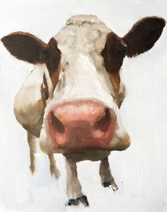 A personal favourite from my Etsy shop https://www.etsy.com/uk/listing/475569274/cow-painting-cow-art-cow-print-cow-oil