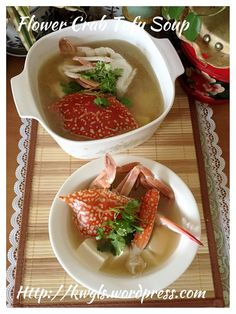 Flower Crab Tofu Soup (花蟹豆腐汤)#guaishushu #kenneth_goh   #flower_crab  #花蟹