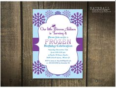A personal favorite from my Etsy shop https://www.etsy.com/listing/209887880/printable-custom-frozen-birthday
