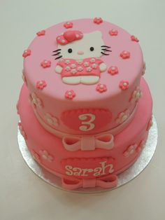 Hello Kitty cake..but there ain't no way I could do that. It would look terrible.