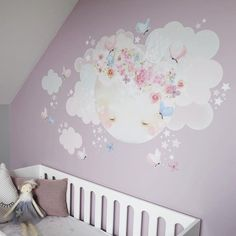 "135 Synes godt om, 19 kommentarer – Schmooks (@schmooksart) på Instagram: ""Sleepy Moon wall sticker looking absolutely gorgeous on @mumma.loves.style soft mauve walls …"""