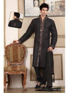 Sherwani Persi couleur noir collection Maharaja