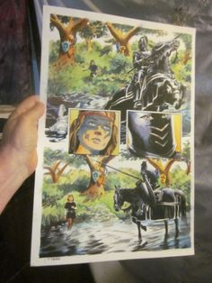 ORIGINAL Comic Art OUTLAW PRINCE Michael KALUTA Thomas YEATES Painted art PG 46