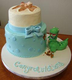 dinosaur baby shower cake - Google Search