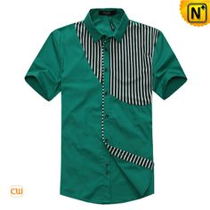 Fashion designer striped matching design black and green short sleeve shirts for men, choose this seven-button placket and spread collar cotton original design shirt in CWMALLS. African Dresses Men, African Clothing For Men, African Men Fashion, Slim Fit Casual Shirts, Formal Shirts For Men, Mens Shirt Pattern, Men's Fashion, Fashion Designer, Kurta Designs