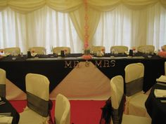 Top Table - #marqueehireuk #marqueehire #Notts #Derby #Leicester #weddings #corporate #events