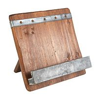 RECLAIMED WOOD COOKBOOK STAND|UncommonGoods