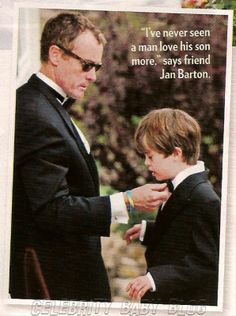 John C McGinley (aka Dr Cox from Scrubs) and his son Max.