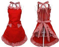 Hyzrz Cute Red Cotton Flirty Womens Aprons Fashion for Girls Vintage Cooking Retro Apron with Pockets Special Hyzrz http://www.amazon.com/dp/B00C28P396/ref=cm_sw_r_pi_dp_GMirwb1WBSQAD