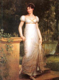 ca. 1810 Duchess Theresa of Mecklenburg Strelitz by Baron François Pascal Simon Gérard (location unknown to gogm) | Grand Ladies | gogm