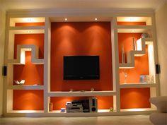C € Drywall Repair Tv Unit Decor, Tv Wall Decor, Ceiling Decor, Wall Art, Tv Wall Design, Hall Design, House Design, Tv Wanddekor, Flur Design
