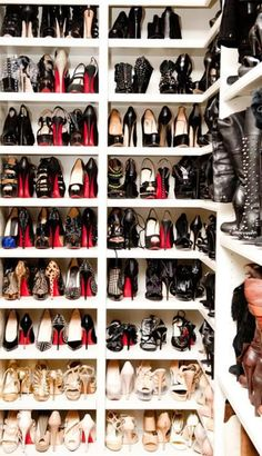 This is life. A closet full of Louboutins oh how the other half live!