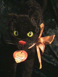 Vintage Steiff black cat.