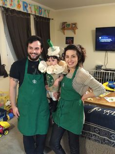 Starbucks Halloween family costumes! Baby frap homemade costume