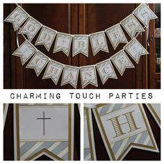 Custom triple card stock layered blue gold by CharmingTouchParties, $42.00