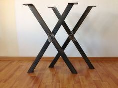 SET XFrame Table Leg 28Raw Steel Table Legs by Balasagun on Etsy, $160.00