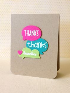Handmade Thank You Card ... Clean And Simple Layout ... Three