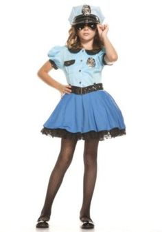 2018 Big Girls' Police Uniform Costume and more Career Costumes for Girls, Girl's Halloween Costumes, Law Enforcement Costumes for Girls for Little Girl Halloween Costumes, Pop Culture Halloween Costume, Creative Halloween Costumes, Halloween Kids, Halloween Halloween, Halloween Decorations, Group Costumes, Girl Costumes, Costume Ideas
