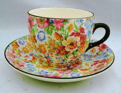 Burlington Ware Shaw china chintz Tea cup and saucer Grimwades