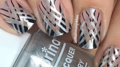 Art Deco Inspired Negative Space Nail Stamping