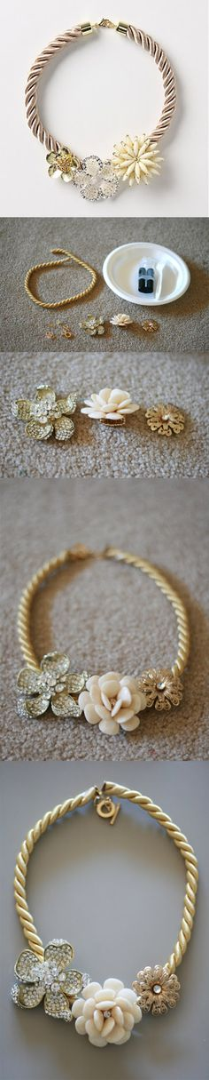 "Diy: 11 Beautiful Ideas For Necklace..have a bunch of this cord and other ""findings"". Need to do something with it all."