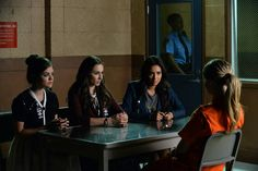 """#PLL 5x21 """"Bloody Hell"""" - Aria, Spencer, Emily and Ali"""