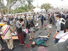 """"""" اليوم برس""""  ينشر أسماء قتلى وجرحى الهجوم الإنتحاري والذي إستهدف تجمعاً للحوثيين بميدان التحرير بصنعاء ( الأسماء)       http://khazn.com/%d8%a7%d9%84%d9%8a%d9%88%d9%85-%d8%a8%d8%b1%d8%b3/12524/"""