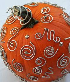 Wire decorated Pumpkin