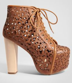 Jeffrey Campbell Lita Daisy Laser Cut Platform Boots