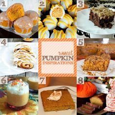 The BEST Pumpkin Recipes and many more Fall Decor ideas and inspiration!! #pumpkin #recipes #fall #halloween #thanksgiving #dessert http://twelveoeight.blogspot.com/2013/10/inspiration-monday-party-pumpkin.html#more