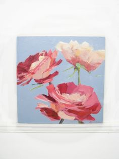 painting small flowers roses by LeahJesseArts on Etsy, $45.00