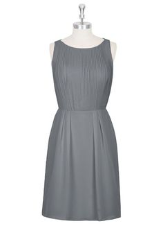AZAZIE CHAYA. Style Chaya by Azazie is a knee-length sheath/column bridesmaid dress in a comfortable chiffon. #Bridesmaid #Wedding #CustomDresses #AZAZIE
