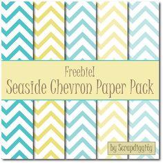 Scrapdiggity: FREEBIE: Seaside Chevron Paper Pack