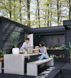 backyard design – Gardening Tips Outdoor Spaces, Outdoor Living, Outdoor Decor, Barbecue Garden, Backyard Kitchen, Backyard Retreat, Yard Design, Exterior Design, Outdoor Gardens