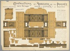 76.296: 9e Mobilier De Ma Poupee (Set of Doll Furniture) | paper toy | More Toys | Toys | National Museum of Play Online Collections | The S...